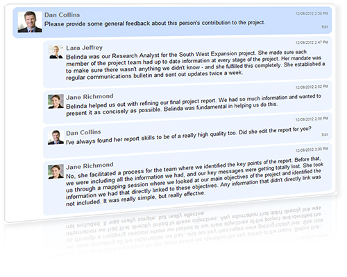 Screenshot of Enterprise Social Network crowdsourcing tool